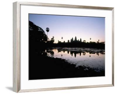 Sunrise, Angkor Wat, Angkor, Unesco World Heritage Site, Siem Reap, Cambodia-Jane Sweeney-Framed Photographic Print