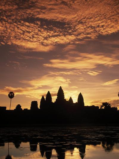 Sunrise at Angkor Wat Temple-Angelo Cavalli-Photographic Print