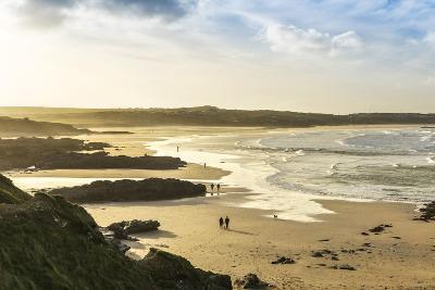 Sunrise at Gwithian Beach, Cornwall, England, United Kingdom-Mark Chivers-Photographic Print