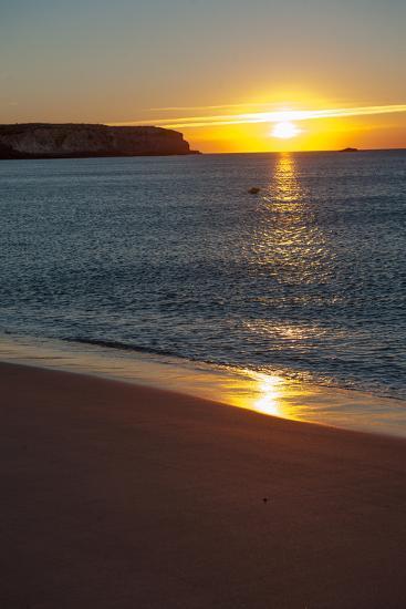 Sunrise at Martinhal Beach in Sagres, Algarve Province-Lola Akinmade Akerstrom-Photographic Print