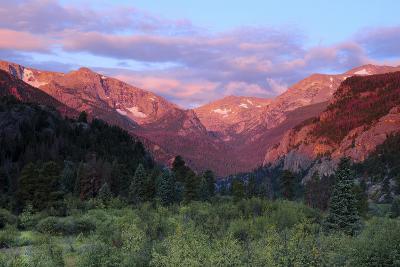 Sunrise at Moraine Park, Rocky Mountain National Park, Colorado, USA-Michel Hersen-Photographic Print