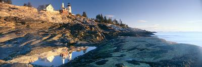 Sunrise at Pemaquid Point Lighthouse from 1827, Maine--Photographic Print