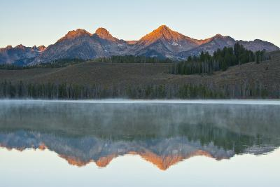 Sunrise at Sawtooth Mts, Little Redfish Lake, Stanley, Idaho-Michel Hersen-Photographic Print