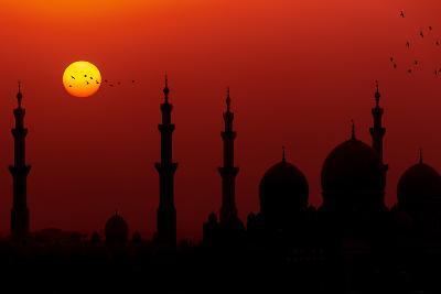 Sunrise at Sheikh Zayed Grand Mosque-Figurative Speech-Photographic Print
