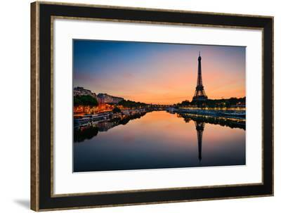 Sunrise at the Eiffel Tower, Paris-Mapics-Framed Photographic Print