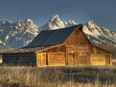 Sunrise at the Mormon Row Barn in Wyoming's Grand Teton National Park-Kyle Hammons-Photographic Print