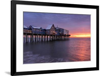 Sunrise At The Pier-Michael Blanchette Photography-Framed Giclee Print