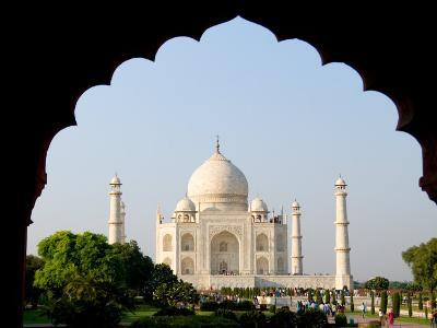Sunrise at the Taj Mahal, Agra, India-Bill Bachmann-Photographic Print