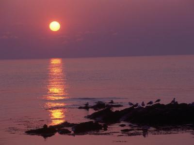 Sunrise, Bornholm, Denmark-Tina Buckman-Photographic Print