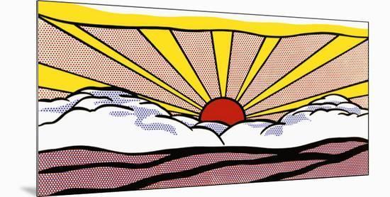 Sunrise, c.1965-Roy Lichtenstein-Mounted Art Print