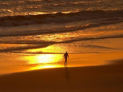 Sunrise, Coolangatta, Gold Coast, Queensland, Australia-David Wall-Photographic Print