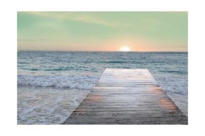 Sunrise Dock-Sue Schlabach-Art Print
