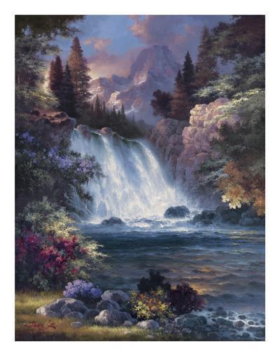 Sunrise Falls-James Lee-Art Print