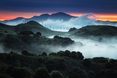 Sunrise Fog Landscape, Oakland, East Bay Hills San Francisco-Vincent James-Photographic Print