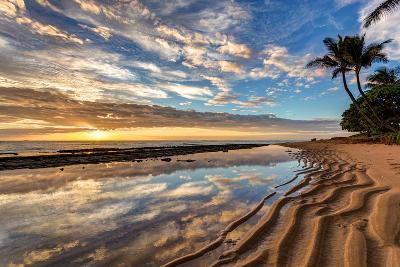 Sunrise from Kauai Kailani in the Town of Kapaa on the Hawaiian Island of Kauai.-peteleclerc-Photographic Print