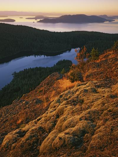 Sunrise from Mt. Constitution, Moran State Park, Orcas Island, Washington, USA-Charles Gurche-Photographic Print