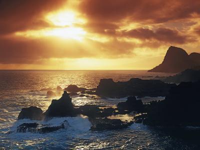 Sunrise from Nakalele Point, Maui, Hawaii, USA-Charles Gurche-Photographic Print