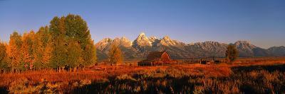 Sunrise Grand Teton National Park WY USA--Photographic Print