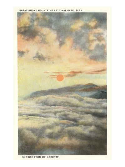 Sunrise, Great Smoky Mountains, Tennessee--Art Print