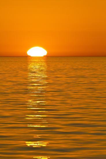 Sunrise, Gulf of California (Sea of Cortez), Baja California, Mexico, North America-Michael Nolan-Photographic Print