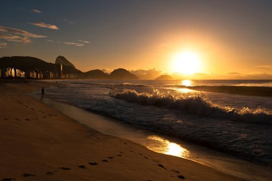 Sunrise in Copacabana Beach-dabldy-Photographic Print