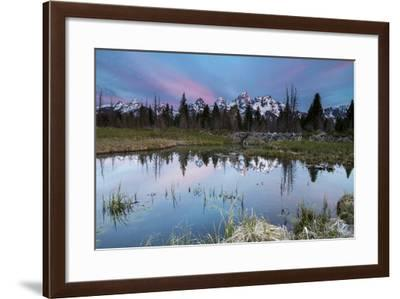 Sunrise In Grand Teton National Park At Schwalbachers Landing-Liam Doran-Framed Photographic Print