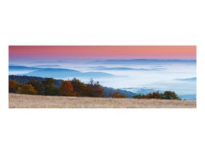 Sunrise in Mountain Landscape--Art Print
