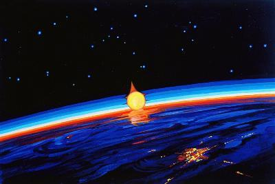 Sunrise In Space' by Leonov-Ria Novosti-Photographic Print
