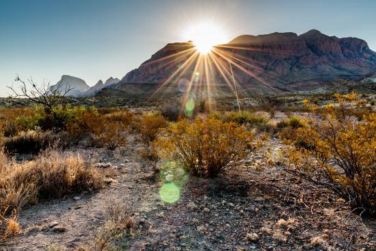 Sunrise in the Chisos Mountains Big Bend National Park-B Norris-Photographic Print