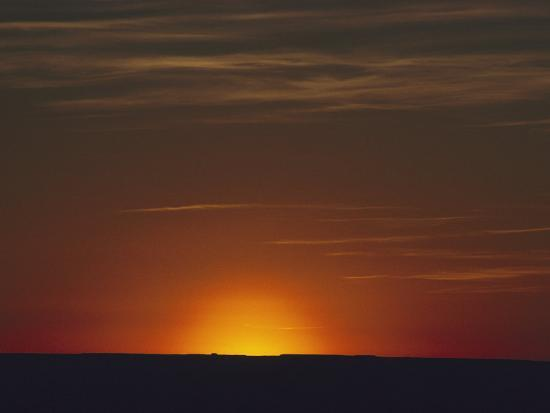 Sunrise in the Desert, Arizona-David Edwards-Photographic Print