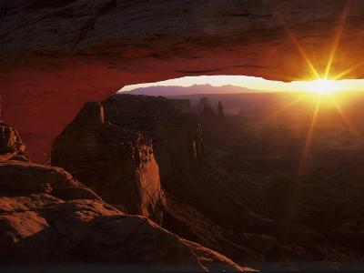 Sunrise in the Desert, Mesa Arch, Island in the Sky, Canyonlands National Park, Utah, USA-Jerry Ginsberg-Photographic Print