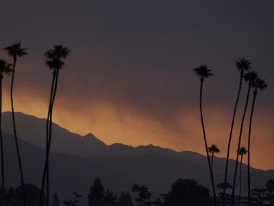 Sunrise in the San Gabriel Mountains Santa Anita 24th, October 2003--Photographic Print