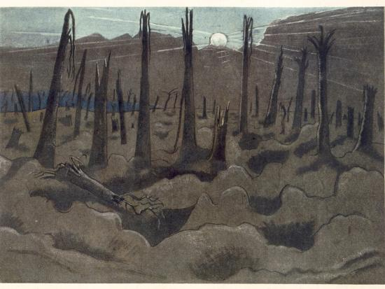 Sunrise, Inverness Copse, from British Artists at the Front ...