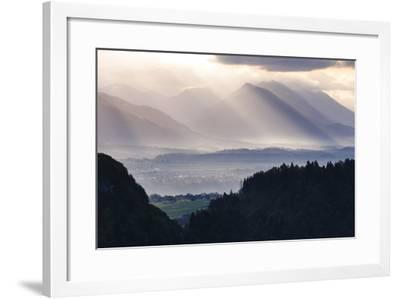 Sunrise, Julian Alps, Gorenjska, Upper Carniola Region, Slovenia, Europe-Matthew Williams-Ellis-Framed Photographic Print