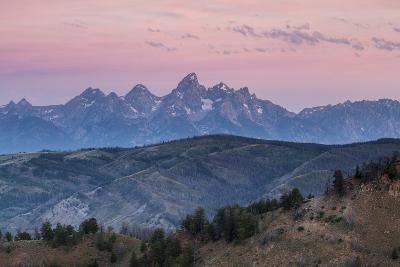 Sunrise Lighting Clouds Over The Teton And Gros Ventre Mountains, Bridger-Teton NF, Wyoming-Mike Cavaroc-Photographic Print