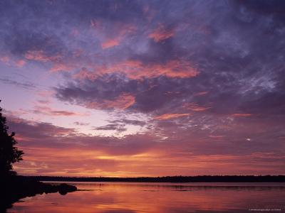 Sunrise Lights up the Sky Over Cobscook Bay-Stephen Alvarez-Photographic Print