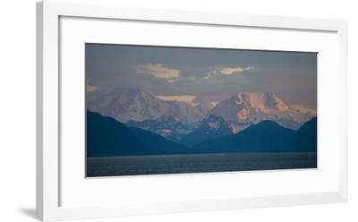 Sunrise Looking North into Glacier Bay National Park, with the Fairweather Range-Michael Melford-Framed Photographic Print