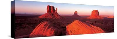 Sunrise, Monument Valley--Stretched Canvas Print