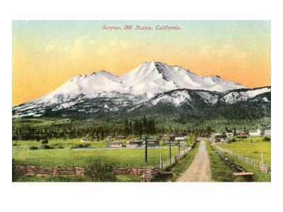 Sunrise, Mt. Shasta, California--Art Print