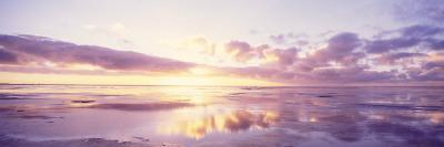 Sunrise on Beach, North Sea, Germany--Photographic Print