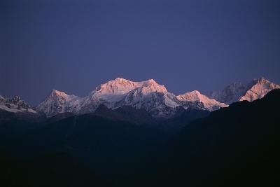 Sunrise on Kabru, Center, and Kanchenjunga, Right, the World's 3rd Highest Mountain-Macduff Everton-Photographic Print