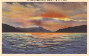 Sunrise on Lake George, New York