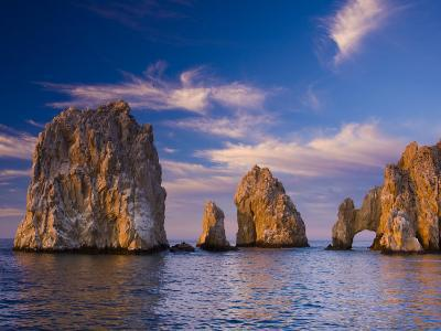 Sunrise on Land's End, Los Arcos Rock Formations-Ralph Lee Hopkins-Photographic Print
