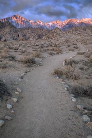 Sunrise on Lone Pine Peak and Mt Whitney, California, USA-Jaynes Gallery-Photographic Print