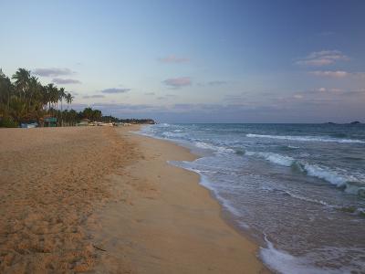 Sunrise on Nilaveli Beach, Trincomalee, Sri Lanka, Asia-Peter Barritt-Photographic Print