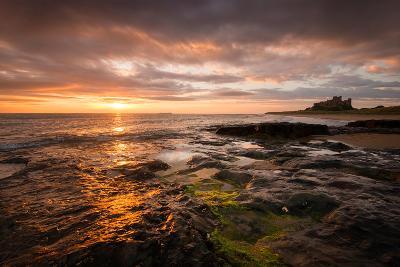 Sunrise on the Beach at Bamburgh, Northumberland UK-Tracey Whitefoot-Photographic Print