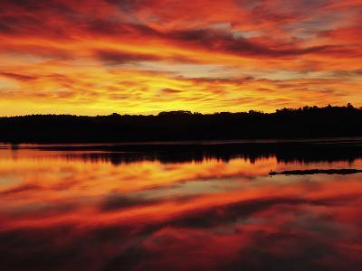 Sunrise on the New Meadows River, Brunswick, Maine, USA-Michel Hersen-Photographic Print