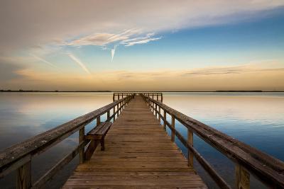 Sunrise on the Pier at Terre Ceia Bay, Florida, USA-Richard Duval-Photographic Print