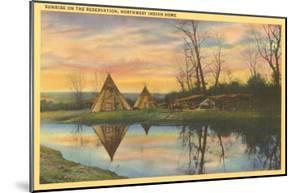 Sunrise on the Reservation, Teepees