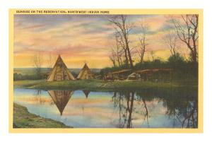 Sunrise on the Reservation, Tepees
